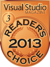 HelpNDoc Bronce en la categoría Visual Studio Magazine Readers Choice 2013