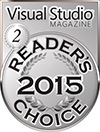 HelpNDoc Silver Award at the 2015 Visual Studio Magazine Readers Choice