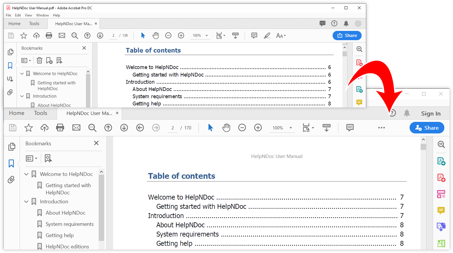 PDF export on high resolution screen