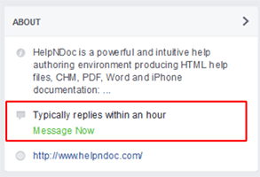 HelpNDoc support response time