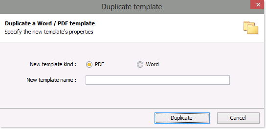 How to duplicate an existing report template