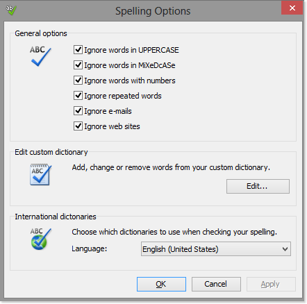 How to maintain your spell check settings in HelpNDoc