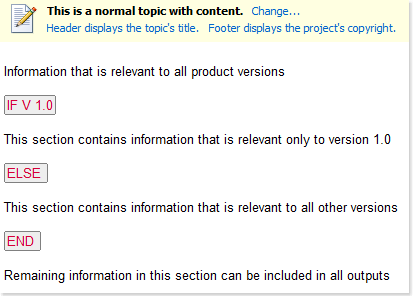 How to setup conditional content generation