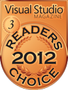 HelpNDoc Bonze Award at the 2012 Visual Studio Magazine Readers Choice