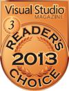 HelpNDoc Bronze Award at the 2013 Visual Studio Magazine Readers Choice