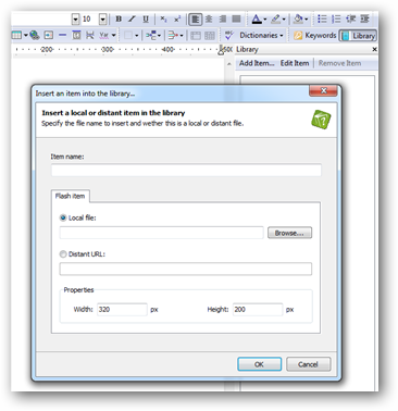 Add flash files to your CHM and HTML documentation | HelpNDoc