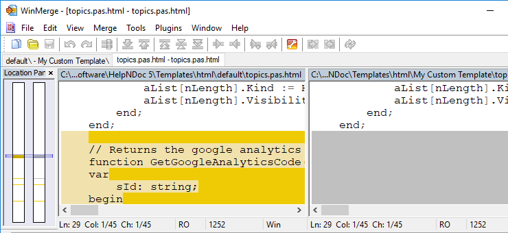 Use WinMerge to compare files and folders